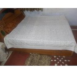 Hand Embroidered Bed Cover Sheet