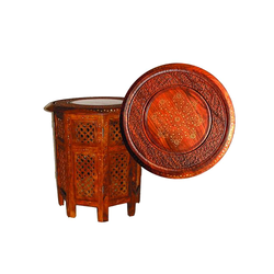 Aspiration International Wooden Carved Table, Size: Multiple
