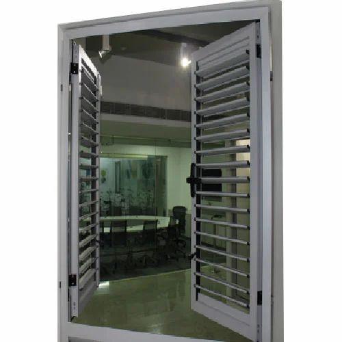 Aluminum Louver Door  sc 1 st  IndiaMART & Aluminum Louver Door Aluminium Door - Ravi Enterprises Bengaluru ...