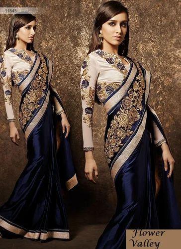 e9f98e6ab51ab3 Bollywood Style Blue Saree Designer Blouse at Rs 1495 /piece(s ...