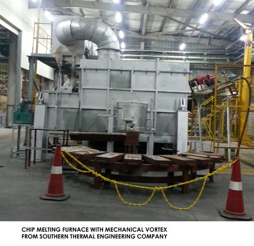 Ingot Loading Automation Aluminium Swarf Melting Furnace