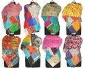 Vintage Kantha Scarves Silk Patchwork Kantha Scarf