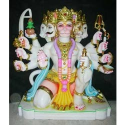 Panch Mukhi Hanuman Marble Moorti