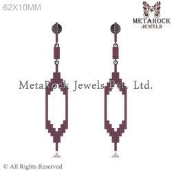 Ruby Gemstone Drop Earring
