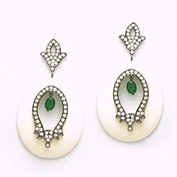 925 Sterling Silver Gold Jewelry Bakelite Earrings