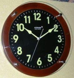 Black Full Night Glow Clocks - Wooden