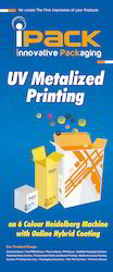 Metalized U.V. Printing
