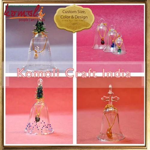 Christmas Glass Bells - Christmas Ornament Bells