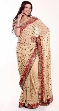 9b4428485364ef Gota Patti And Mirror Work Saree at Rs 13999 | Georgette Sarees | ID ...