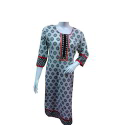Red Strip Long Kurti