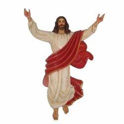 Wooden and Fiber Jesus Statue