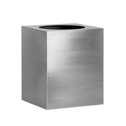 Stainless Steel Square Lip Planter