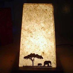 Trapazoid Motif Lamps