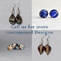 Party Brass Murano Boro Glass Flameworking Earrings - Various Designs