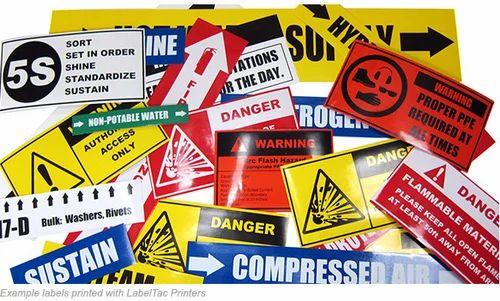 Industrial sticker printing service