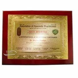 Wooden Piano Certificate