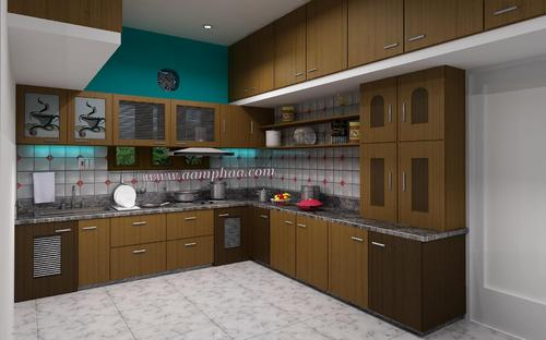 Teak Wood Kitchen Images