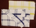 Plain Check Cotton Towels, For Bedsheet, Gsm: 50-100 Gsm