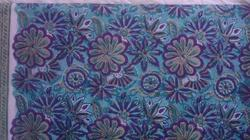 Big Flower Block Print Cotton Double Bedsheet