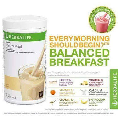 herbalife f1 nutrition shake mix, pack size: 500 gram, rs 1170