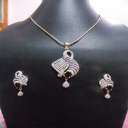 Diamond pendant set in jaipur rajasthan manufacturers suppliers american diamond pendant set aloadofball Gallery