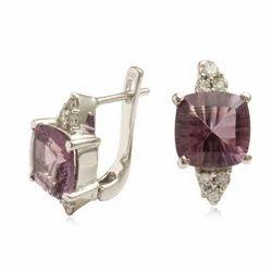 Silver Amethyst Earring