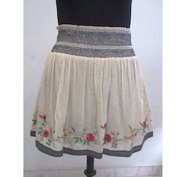 Embroidered Short Skirt