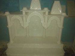 White Marble Twin Head Temple
