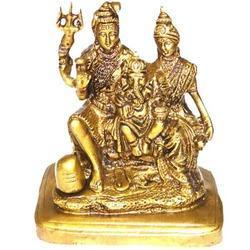 Shiva Parvati Brass Statue