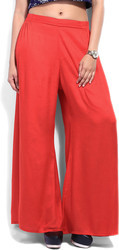New Ladies Palazzo Trousers Leg Flared