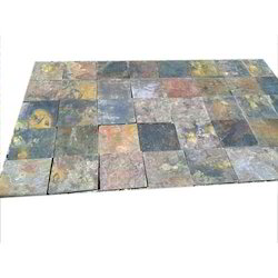 Stone Multicolor Slate, Thickness: 15-20 mm, Size: Medium (6 inch x 6 inch)