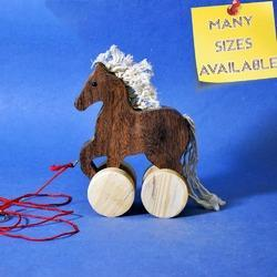 Creative Wooden Pull Toy - Horse - Contrast Color