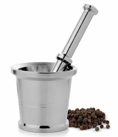 Mosaic Khal Batta Mortar Stainless Steel Utensils Cookware