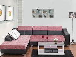 MOBEL FURNITURE Solid Wood VR-111 C Sofa Set, For Home, Shape: L Shape