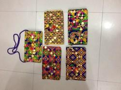 Floral, Pictorial Cottton Ladies Banjara Clutch Bags