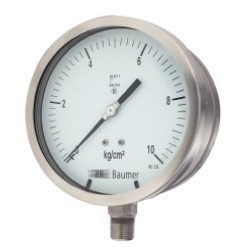 Baumer All SS Pressure Gauge Solid Front