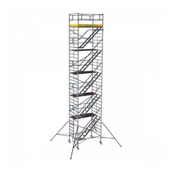 Silver Mobile Scaffold Tower With Stairway
