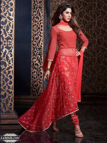 74ad26b68f A-Line Red Salwar Kameez, Rs 4080 /piece, Hitansh Infotech   ID ...