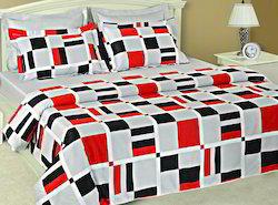 Printed White Bedding Set