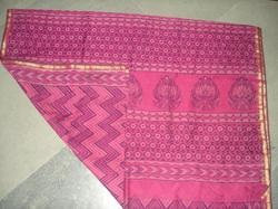 Chanderi Saree Bagru Hand Block Dabu Print