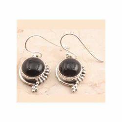 Dark Graceful Garnet Earrings