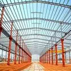 Double Span Double Slope Steel Building Frames