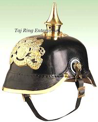 Leather Pickelhaube Helmet
