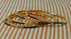 Golden Stones Bangles