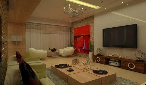 Fnacy Living Room Interior Design in Kandivali West, Mumbai, Art N ...
