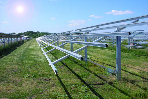 Solar Pv Module Mounting Structures Solar Panel Structure Solar Module Mounting Structure Solar Mounting Structures Rooftop Solar Mounting Structure स र ऊर ज व ल प नल क म उ ट ग स ट रक चर Excelsior