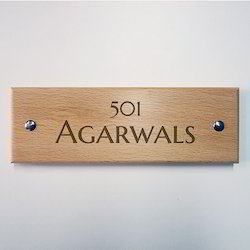 Wooden Name- Plate