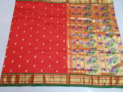 Silk Fancy Border Pallu Tissue Paithani Saree