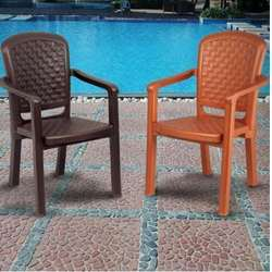 Swagath Weave Brown Plastic Chair, Height: 870 mm