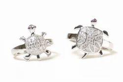 Trendy Turtle Ladies Silver Ring